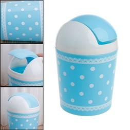 Mini Waste Bin Desktop Garbage Basket Home Desk Trash Can Ro