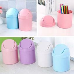 Mini Waste Bin Desktop Garbage Basket Table Home Trash Can R