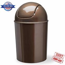 Mini Waste Garbage Can Swing Lid Bathroom Bedroom Trash Wast