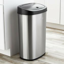 Motion Sensor Kitchen Trash Garbage Can Stainless Steel Auto