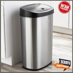 motion sensor trash can garbage touchless automatic