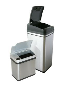 Combo 13 Gallon+2 Gallon Sensor Automatic Touchless Trash Ca