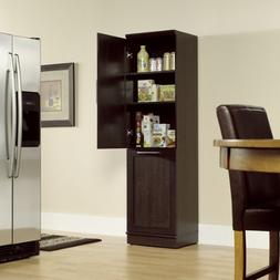 Narrow Storage Cabinet w/ Recycle Bin / Trash Can Holder /or