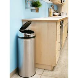 New 13-Gallon Stainless Steel Metal iTouchless Trash Can wit