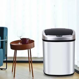 New 13-Gallon Trash Can Automatic Touch Free Sensor Kitchen
