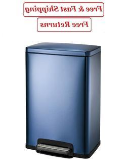 New  Blue Freshener 13 Gallon Step Trash Can Tramontina Garb