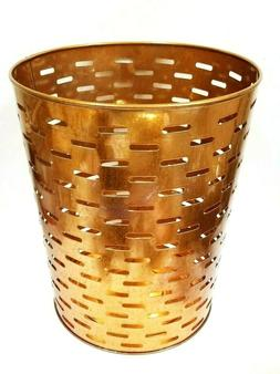 NEW LARGE CUT OUT ROSE GOLD,COPPER METAL MESH TRASH CAN+WAST