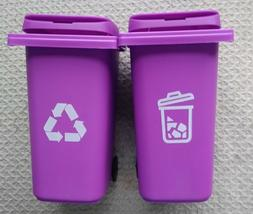 """"""" New """" set two  Trash /Garbage/ Recycle Cans With Lid on Wh"""