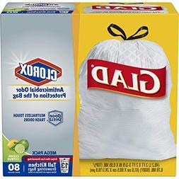 Glad OdorShield Tall Kitchen Antimicrobial Drawstring Trash