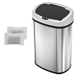 iTouchless Automatic Oval Trash Can with 3 Odor Filters, Big