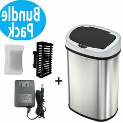 Automatic Touchless Sensor Kitchen Trash Can with AC Adapter