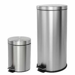 happimess Oscar 8-Gallon Step-Open Trash Can with FREE Mini