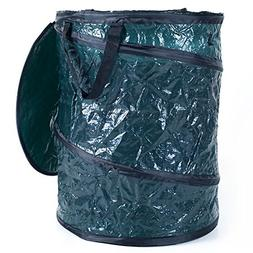 Outdoor Collapsible Utility Bin Trash Can 33 gal. Loop Grab