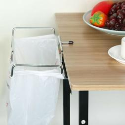 Outdoor Trash Can Over the Cabinet Plastic Bag Holder Kitche