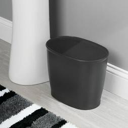 mDesign Oval Plastic Trash Can, Small Garbage Wastebasket