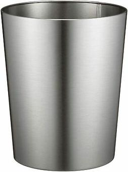 iDesign Patton Round Metal Trash Can, Waste Basket Garbage C