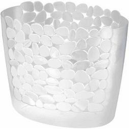 InterDesign Pebblz Bath, Wastebasket Trash Can for Bathroom,