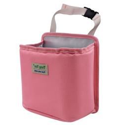 Pink Leakproof Car Trash Can for Seat Floor Garbage Bag Hold