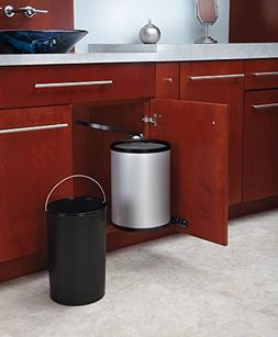 Pivot Out Stainless Steel Under Sink Waste Containers Trash