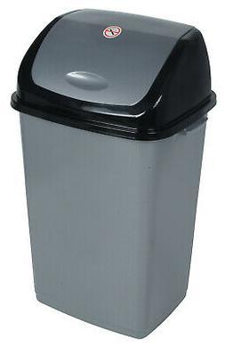 Superior Performance Plastic 13 Gallon Swing Top Trash Can