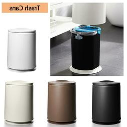 Plastic 2 in 1 Round Trash Can Garbage Bin with Flip Lid Hom