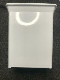 Knape Vogt Plastic In Cabinet Door Mount Trash Can in White