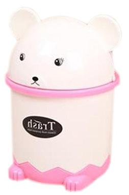 Blancho Bedding Plastic Desktop Trash Can Waste Can with Lid