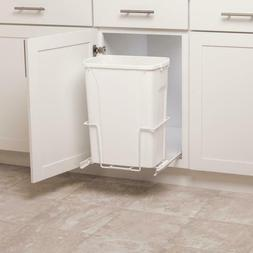 Pull Out Trash Can Plastic Waste Bin Under Cabinet Storage B