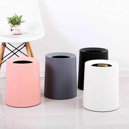 Plastic Trash Can Matte Office Living Room Kitchen Bathroom