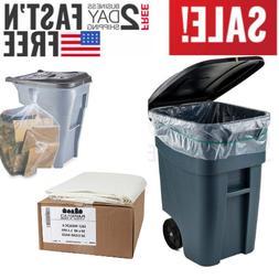 Plasticplace 65 Gallon Trash Bags │1.5 Mil │Clear Heavy
