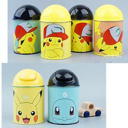 Pokemon Pikachu Mini Trash Can Push Waste Basket Interior Li