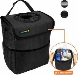 Portable Car Trash Can Garbage Bin Bag Organizer for Vehicle