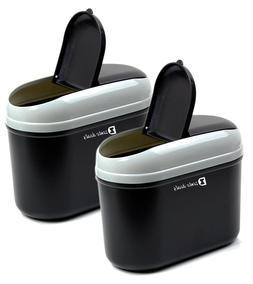 Zento Deals Portable Traveling Car Trash Can 2-Pack Superb Q