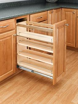Pull-Out Kitchen Wood Base Cabinet Organizer Spice Rack Stor