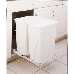Pull Out Trash Can 35 Quart Plastic Kitchen Storage Organiza