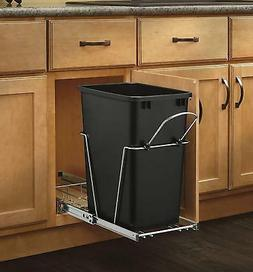 Pull Out Trash Can 35-Quart Plastic Bin Container Frame Kit,