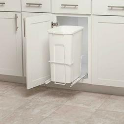 pull out trash can plastic waste bin