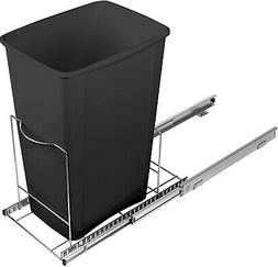 Pull Out Trash Can Shelf - Adjustable – One or Two Cans 9-