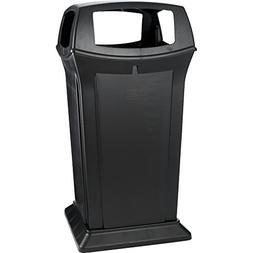 Rubbermaid Commercial Ranger Trash Can, 65 Gallon, Black, FG