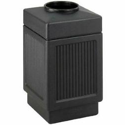 Open Top Trash Can Tall Garbage Bin Receptacle Waste Outdoor
