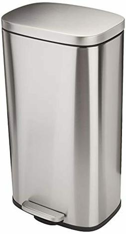 Rectangle, Stainless Steel, Soft-Close, Step Trash Can, 30L,