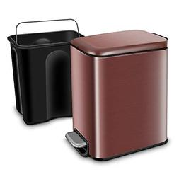 Rectangular Small Trash Can with Lid Soft Close Bathroom Gar