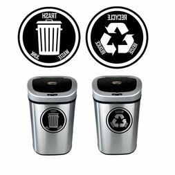 Recycle and Trash Decal Sticker for trash cans - Home & Offi