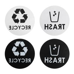 Recycle and Trash Decal Sticker for Trash Cans -Home & Offic