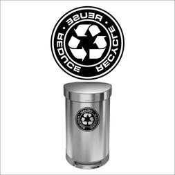Recycle Decal Sticker for trash cans - Home & Office Use! Ch
