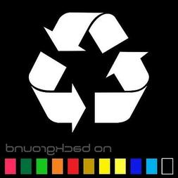 Recycle Sticker Vinyl Decal - Reuse Renew Symbol Trash Work