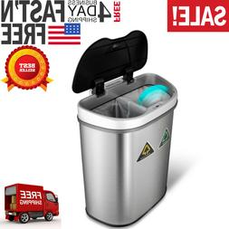 Recycling Bin Trash Can Motion Sensor Container Auto Dual Co