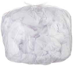 AmazonBasics 45 Gallon Recycling Trash Bag, 1.1 mil, Clear,