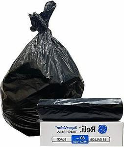 Reli. SuperValue 65 Gallon Trash Bags  Toter 64 Gal Trash Ca