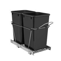 Rev-A-Shelf 27-Quart Plastic Soft Close Pull Out Trash Can